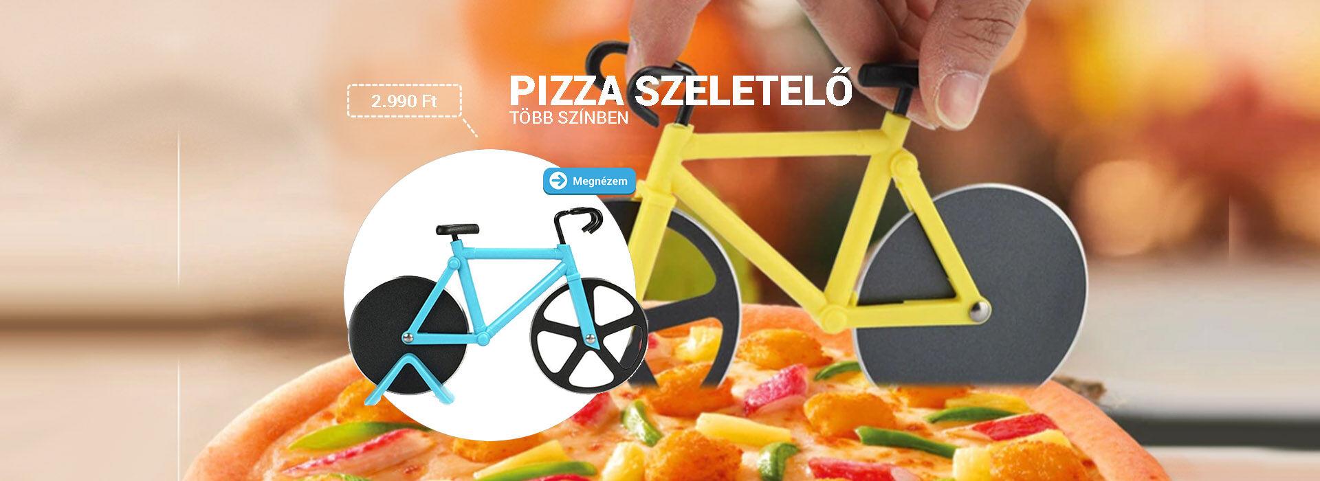 Pizza szeletelő bicikli