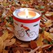 kerékpáros Illatgyertya dekoráció