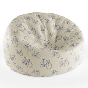 Babzsákfotel Krém színű | Kis Kerékpár Mintás