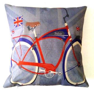 Díszpárna angol kerékpár