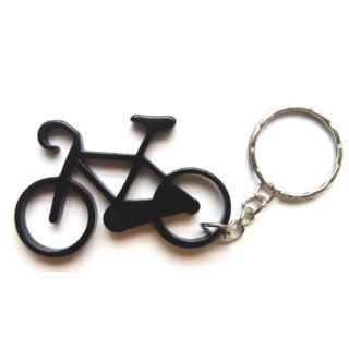 Kerékpár kulcstartó fekete