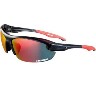 MERIDA SPORT fényes piros fekete szemüveg