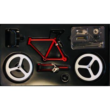 Piros - Fehér - Fekete   Összerakható Országúti Kerékpár Makett