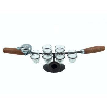 Kerékpár kormányos pálinka kínáló - csengővel