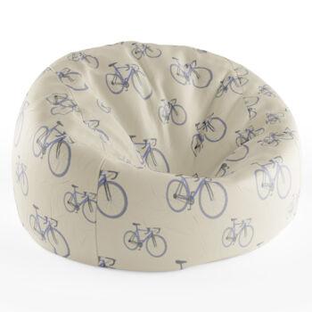 Babzsákfotel Krém színű | Nagy Kerékpár Mintás