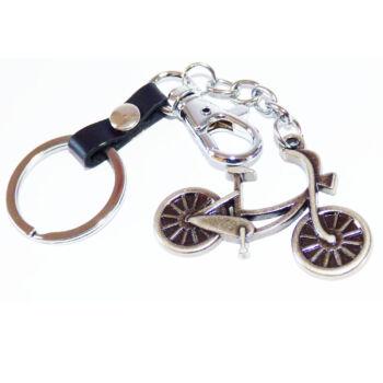 Kerékpáros kulcstartó bronz színben
