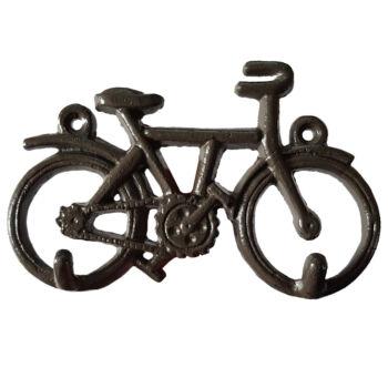 Kerékpáros Fali Fém Kulcstartó / Kulcsakasztó