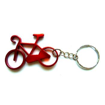 Piros kerékpár kulcstartó