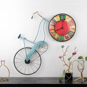 Retro kerékpáros falióra - Nagy