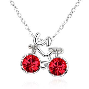 Kerékpáros nyaklánc piros