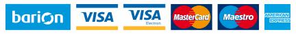 Barion - VISA -VISA Electron -Master Card - Mastero - American Express