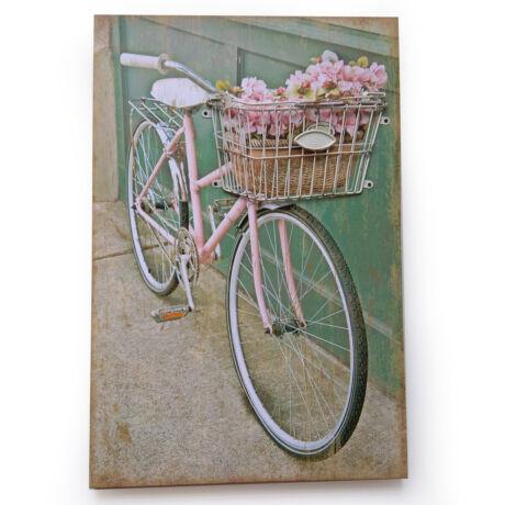 Biciklis dekor falikép