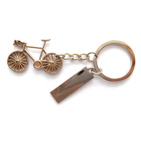 Gravírozható biciklis kulcstartó