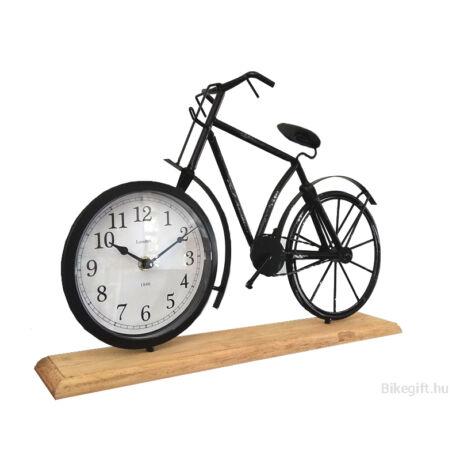 Bicikli díszóra fa talppal