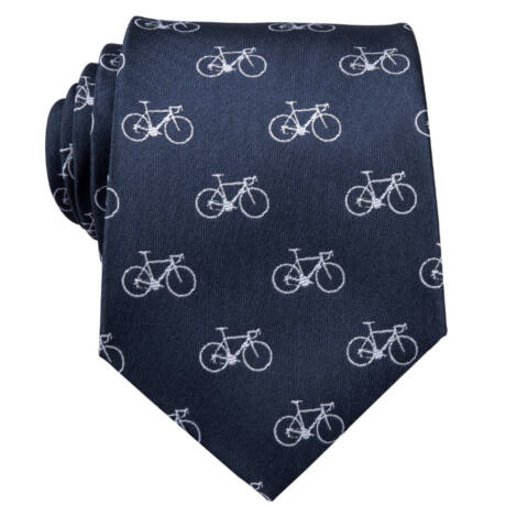 sötétkék kerékpáros nyakkendő