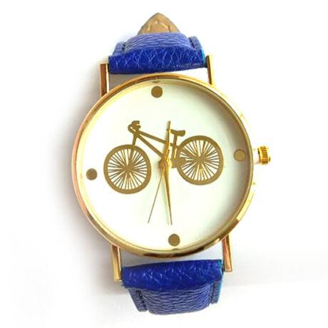 Kerékpáros óra arany kék