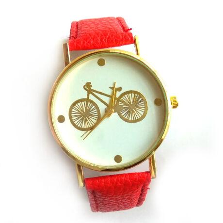 Kerékpáros óra arany piros
