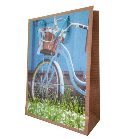 Ajándéktáska kosaras kerékpárral (nagy)