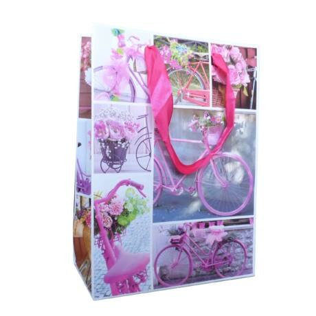 Kerékpáros ajándéktáska rózsaszín