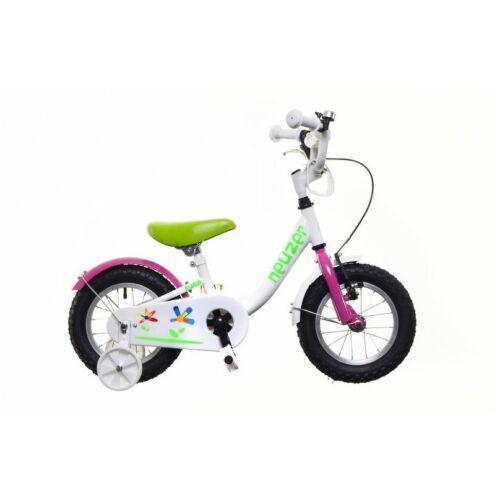 """Neuzer BMX 12"""" lány fehér/pink-zöld"""