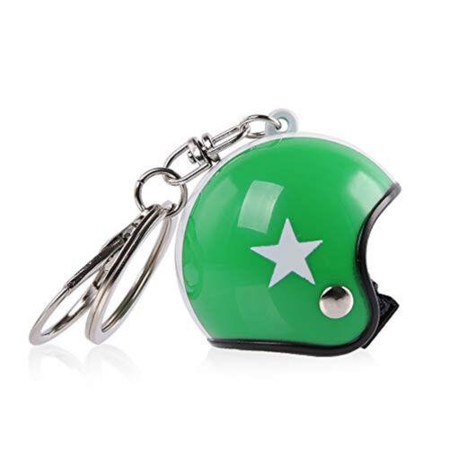 Bukósisak kulcstartó - Zöld