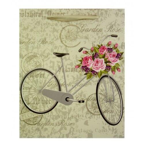 Ajándéktasak Nagy Kerékpáros Virágos