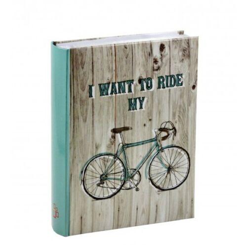 Fényképalbum biciklis 200db 15x10cm-es képhez | Türkiz