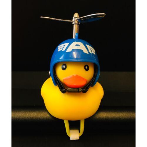 Világító Gumikacsa Duda bukósisakkal és Propellerrel | Amerika kapitány