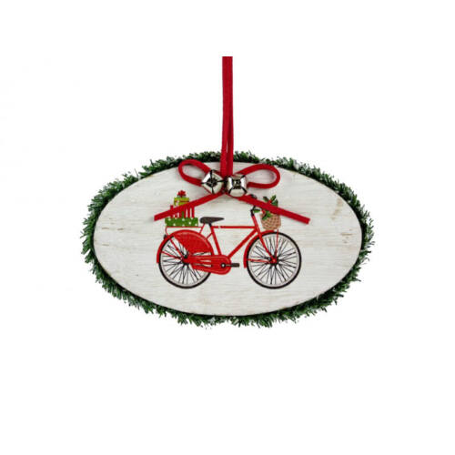 Kerékpáros Karácsonyfadísz, Karácsonyi dekoráció Fából