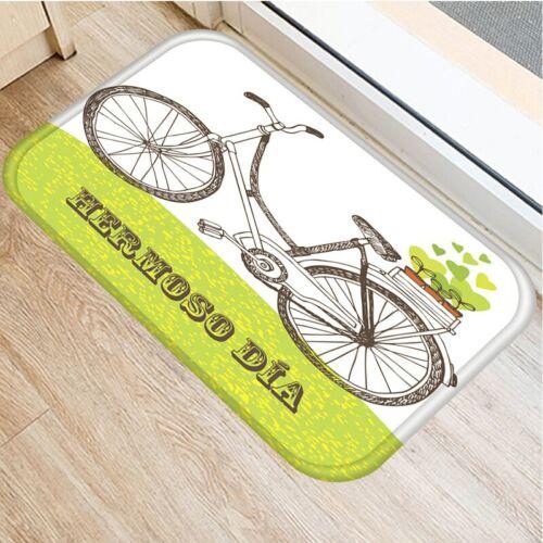 Kerékpáros Lábtörlő   Kosaras Kerékpár