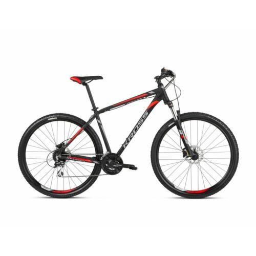 "KROSS Hexagon 6.0 29"" Mtb kerékpár | Matt fekete - piros"