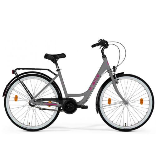 M-Bike Cityline 728 Városi kerékpár   Szürke (Pink)