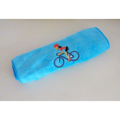 Kék kerékpáros sport törülköző