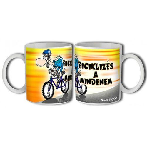 Kerékpáros bögre vicces felirattal