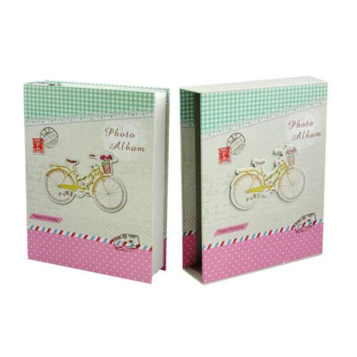 3D Biciklis fotó album pink színben