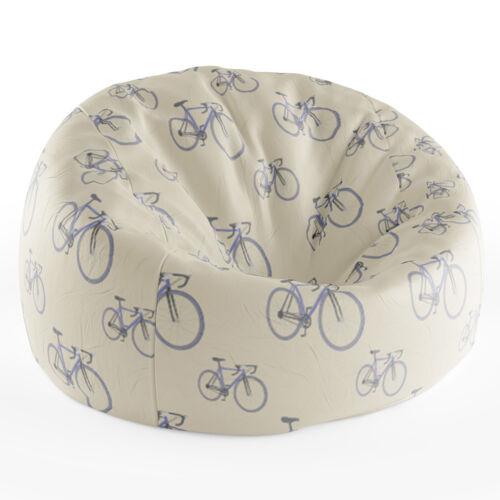 Babzsákfotel Krém színű   Nagy Kerékpár Mintás
