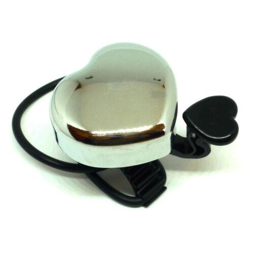 Hauser csengő szívecskés - króm - 36x40mm