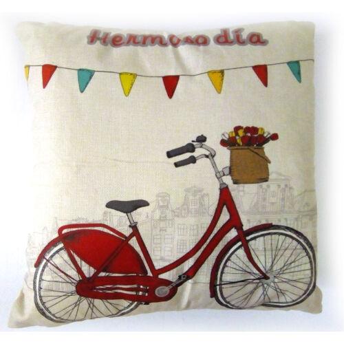 Díszpárna biciklis