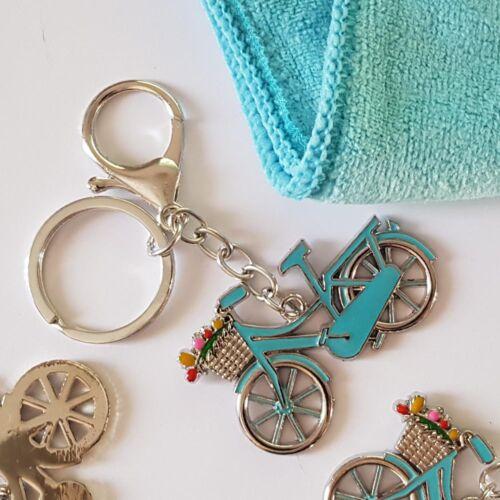 kék city kerékpáros kulcstartó