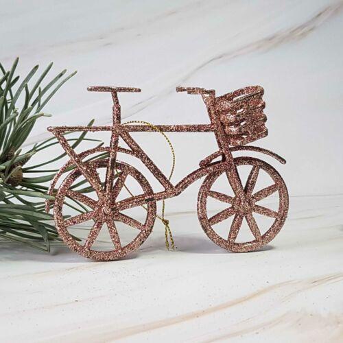Karácsonyfadísz Biciklis   Rosegold