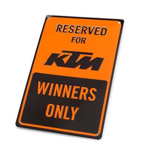 KTM alumínium parkolótábla
