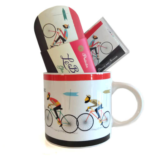 Kerékpáros pohár, termosz és ételhordó ajándékcsomag