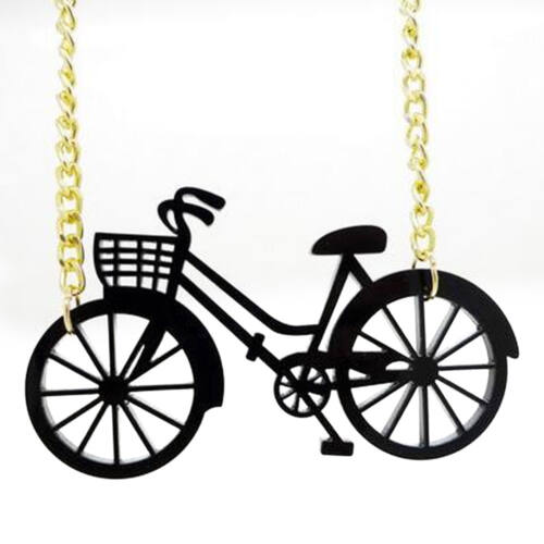 Kerékpáros nyaklánc műanyag medállal