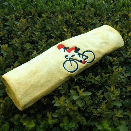 Sárga kerékpáros sport törülköző